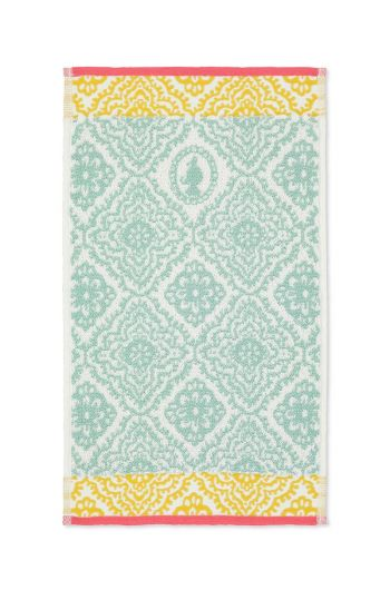 Guest towel Jacquard Check Light blue