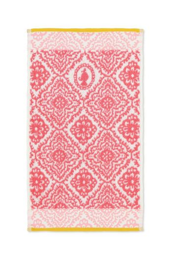 Guest towel Jacquard Check Dark pink 30 x 50 cm