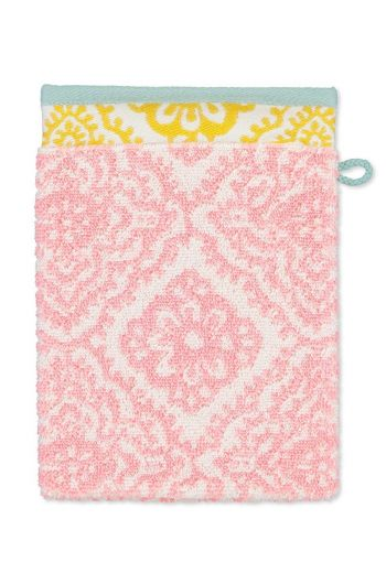 Wash cloth Jacquard Check Pink