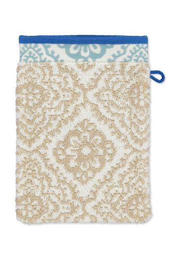 Wash cloth Jacquard Check Khaki 16x22 cm