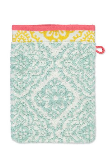 Wash cloth Jacquard Check Light blue