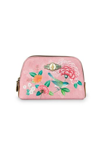 Cosmetic Bag Triangle Small Floral Good Morning Pink