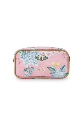 Make-up Bag Rectangle Small Floral Good Morning Pink