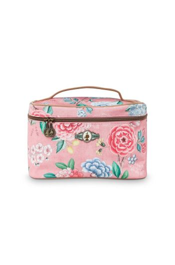 Beauty Case Square Medium Floral Good Morning Pink
