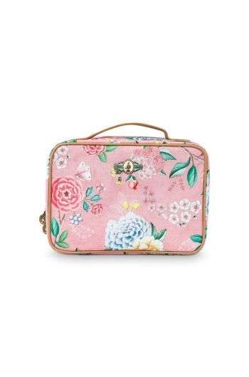 Beauty Case Square Large Floral Good Morning Pink