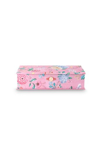 Storage Box Large Floral Good Morning Pink