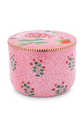 Cotton Ball Jar Floral Good Morning Pink