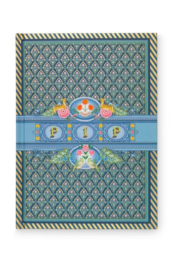 Notebook A5 ruled Indian Festival blue