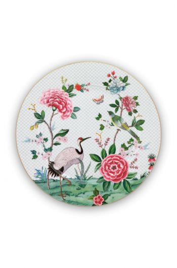 Blushing Birds Underplate white 32 cm