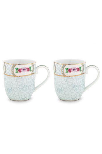 Blushing Birds Set of 2 Mugs small white