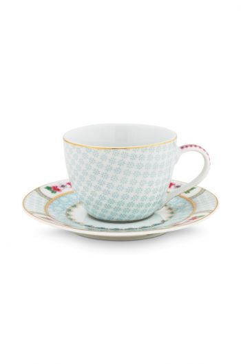Blushing Birds Espresso Cup & Saucer white