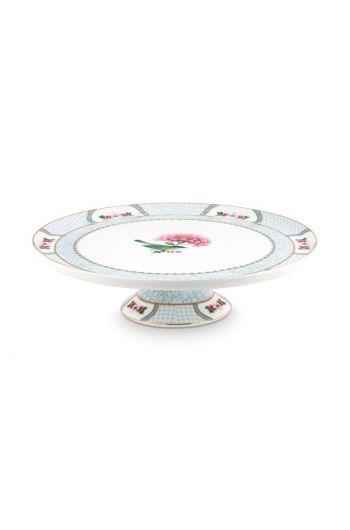 Blushing Birds Round Cake Platter white 30.5 cm