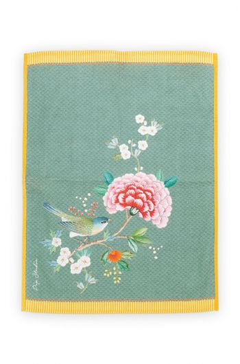 Blushing Birds Tea Towel