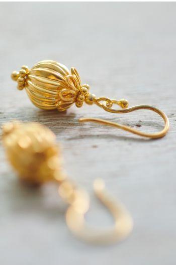 Oorbellen verguld Ballerina goud