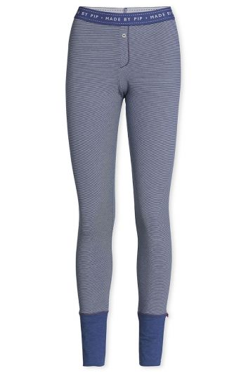 Lange Leggings Stripers Dunkelblau