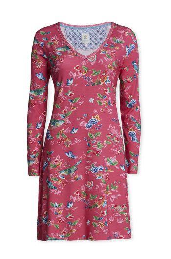 Long sleeve nightdress Birdy pink