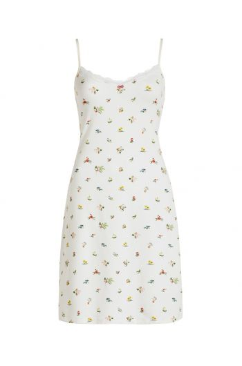 Nightdress sleeveless Moss White