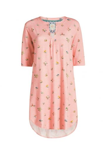 Nightdress 3/4 sleeve Moss XL Pink