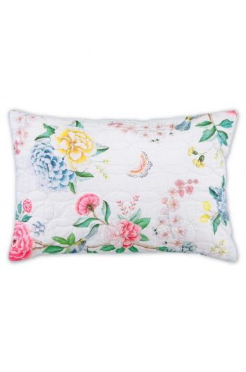 Cushion rectangle Quilted Good Evening White