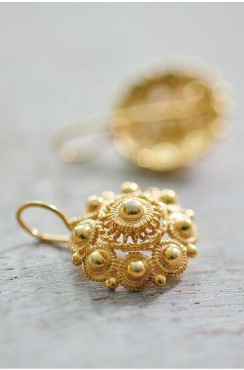 Ohrringe vergoldet Grandma's Astrantia Gold