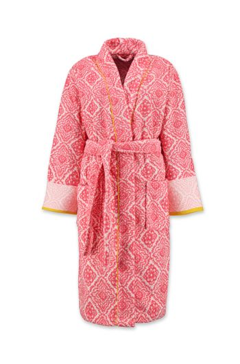 Bathrobe Jacquard Check Dark Pink