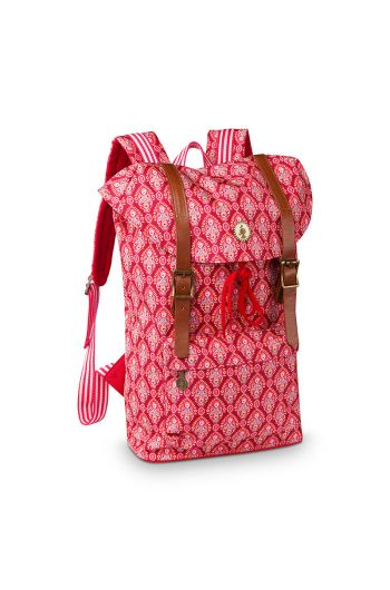 Strapped backpack Indian Festival red