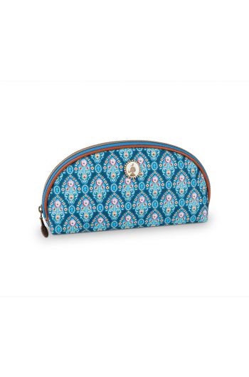 Pencil case triangle Indian Festival blue