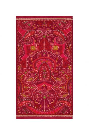 Beach towel Sunrise Red