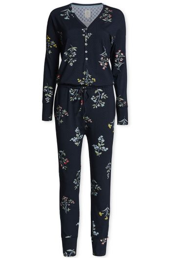 Jumpsuit Winter Wonderland XL Dunkelblau