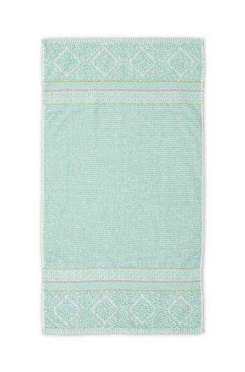 Bath towel Soft Zellige Blue 55x100 cm