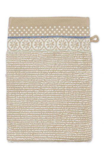 Waschlappen Soft Zellige Khaki 16x22 cm