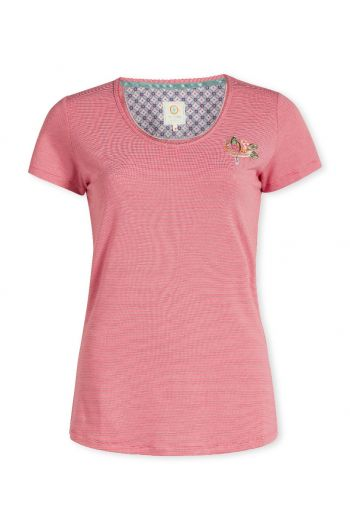 Top short sleeve Stripers blush
