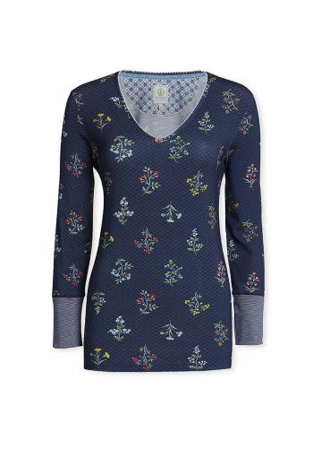 Top Long sleeve Winter Wonderland Dark blue