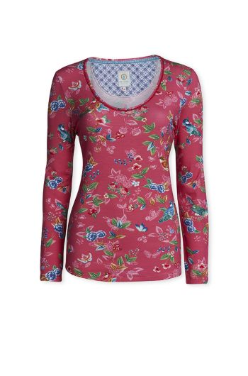 Top Long sleeve Birdy Pink
