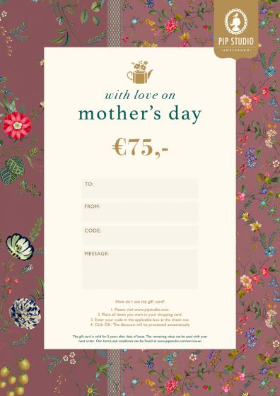 Muttertag Digitalen Geschenkkarte €75