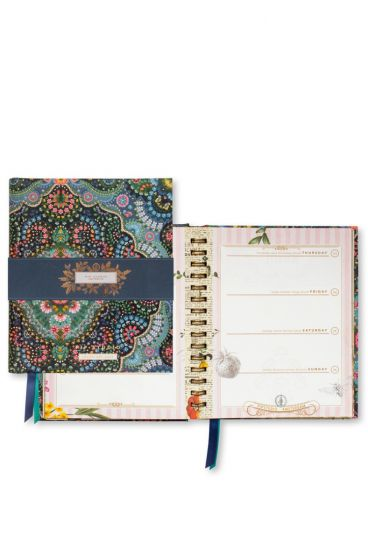 Year Diary A5 Moon Delight Blue