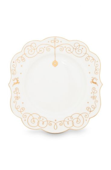 Royal Christmas pastry plate - 17 cm