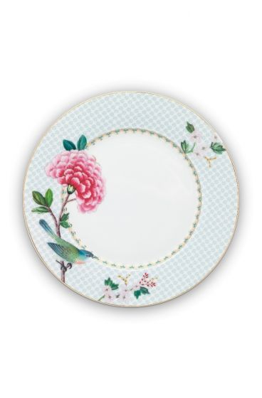 Blushing Birds Breakfast Plate white 21 cm