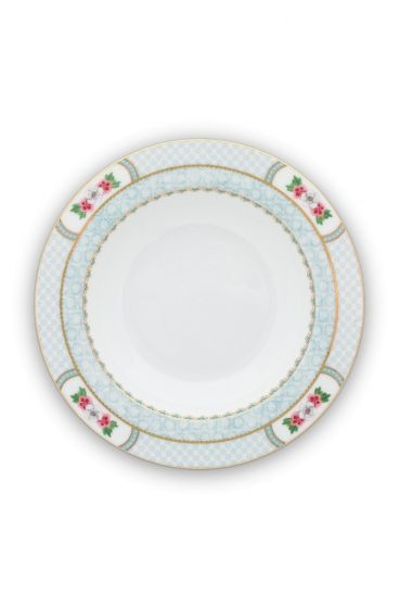 Assiette creuse Blushing Birds Blanc - 21.5cm