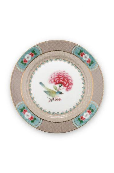 Blushing Birds Pastry Plate Khaki 17 cm