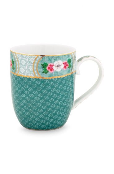 Blushing Birds Mug small blue