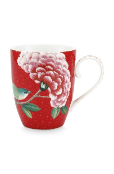 Blushing Birds Mug Large Red