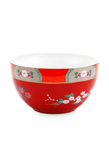 Blushing Birds Bowl Red 18 cm