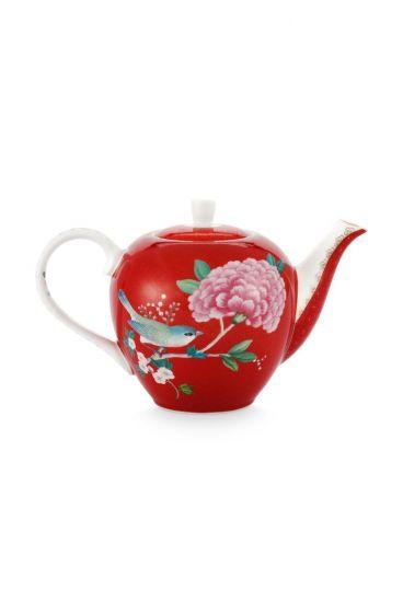 Blushing Birds Teapot Small Red