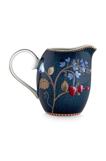 Floral Fantasy Jug Denim Blue Small