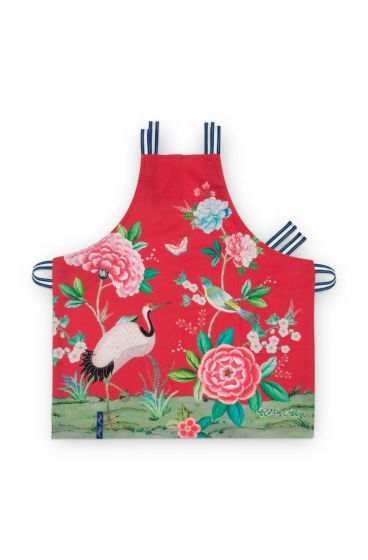 Blushing Birds Keukenschort All-Over Print Rood
