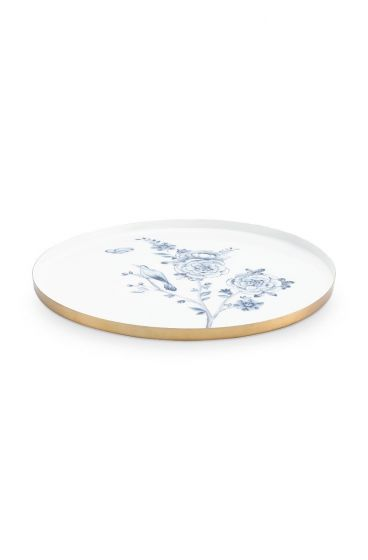 Royal Metal Plate White 34 cm