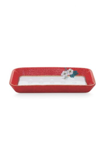 Soap Dish Floral Good Morning Red
