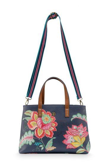 Shopper Klein Jambo Flower Blauw