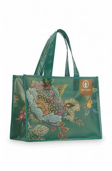 Shopper Poppy Stitch Green